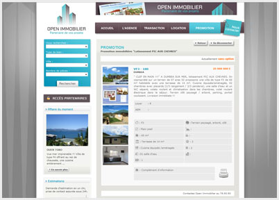 Site Internet : Open Immobilier