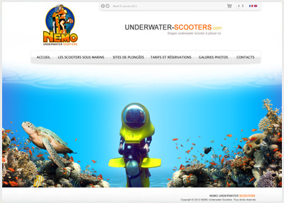 Site Internet : NEMO : Underwater-scooters