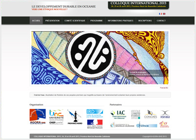 Site Internet : Colloque international 2013